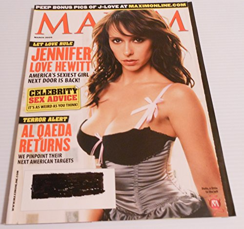 Maxim magazine March 2005 (Jennifer Love Hewitt on cover)[single issue magazine]***Has Digital printed address label, MARKED OUT**WEAR ON SPINE, OVERALL GOOD CONDITION***