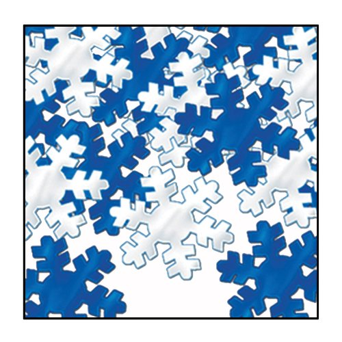 Fanci-Fetti Snowflakes (blue & silver) Party Accessory  (1 count) (1 Oz/Pkg) (Snowflake Confetti)