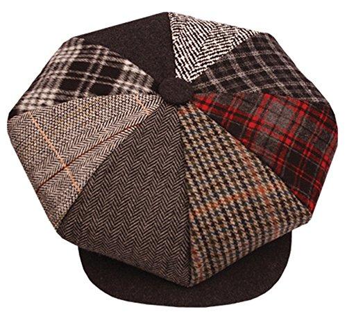 8d7aca97624ca New 8 Panel Newsboy Applejack Cabbie Gatsby Driving Big Apple Tweed Ivy  Golf Cap (Big