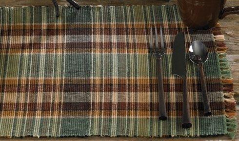 Park Designs Wood River Kitchen Table Runner, Green, Brown, Tan