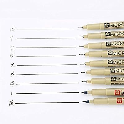 MEEDEN Pigma Micron Fine Line Pen 005 01 02 03 04 05 08 1 Brush Art Supplies