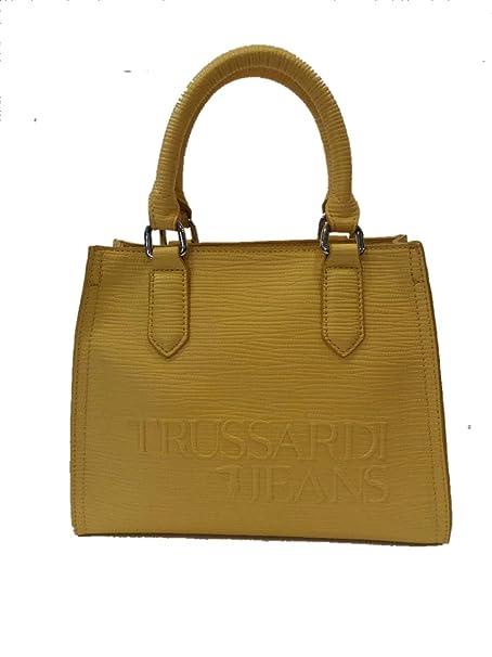 f0f8adbc15 Trussardi Jeans T-Tote SM Saffiano High Frequency Yellow: Amazon.it ...