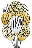 Qualatex Safari Assortment Biodegradable Latex Balloons, 11-Inches (12-Units)