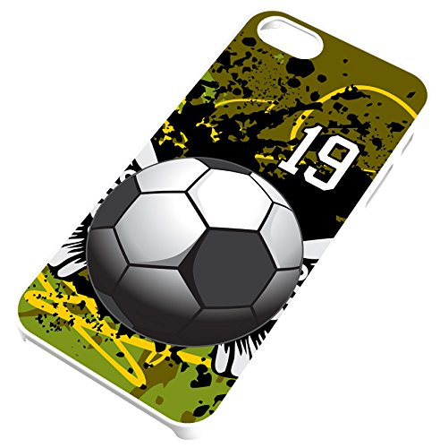 - Soccer Ball With Wings White Rubber Cell Phone Case Fits iPhone 8 PLUS 8+ Player Jersey Number 19