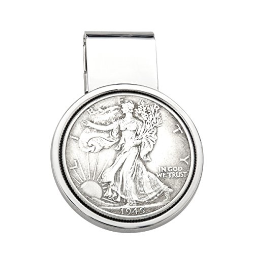 Dolan Bullock Walking Liberty Coin Money Clip in Sterling Silver (Silver Money Clip Medallion)