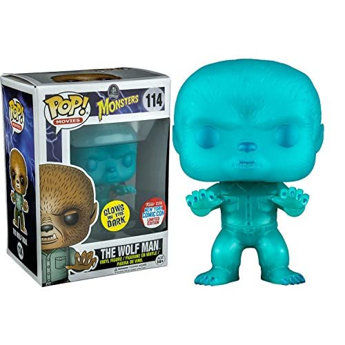 2016 NYCC Exclusive Funko Pop! Movies Universal Monsters The Wolfman Glow in the Dark Toy Tokyo Limited Edition