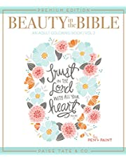 Beauty in the Bible: Adult Coloring Book Volume 2, Premium Edition
