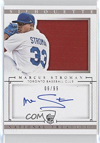 Marcus Stroman #6/99 (Baseball Card) 2014 Panini National Treasures - Rookie Silhouette Autographs #11 -