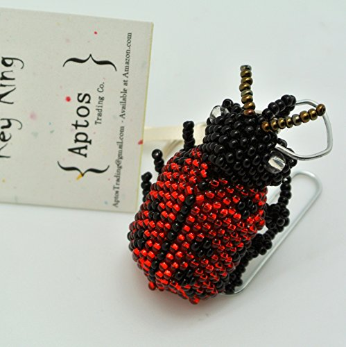 - Adorable Handcrafted LADYBUG Key Chain / Backpack Charm / Purse Charm / Key Ring