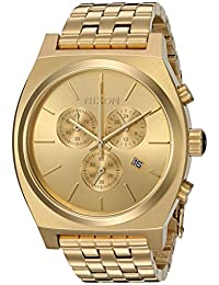 Nixon Men's 'Time Teller Chrono' Quartz Stainless Steel Casual Watch, Color:Gold-Toned (Model: A972502-00)