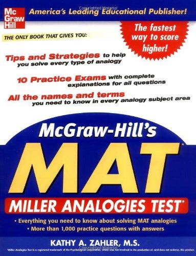 Pdf Test Preparation McGraw-HIll's MAT: Miller Analogies Test