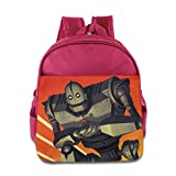 The Iron Giant Kids School Backpack Pink