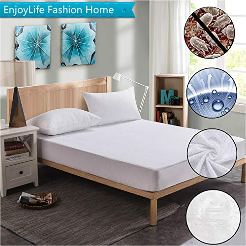 BeesClover Russian 80X200cm Cotton Terry Waterproof Mattress Protector with Elastic Band Sheet Waterproof Mattress Cover for Hospital 80X188CM