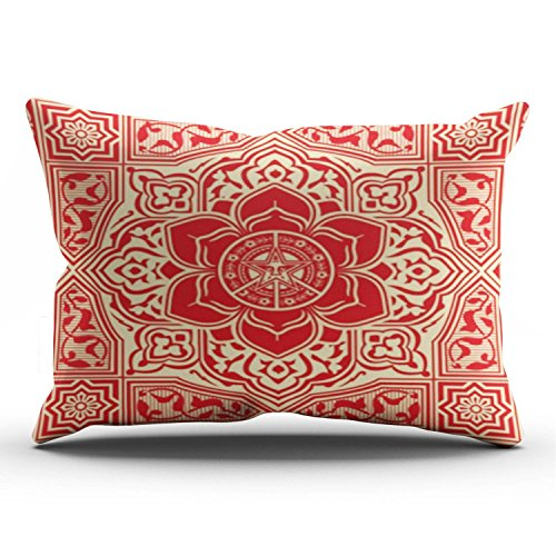 KEIBIKE Personalized Obey Peace and Justice King Rectangle Decorative Pillowcases Soft Zippered Throw Pillow Covers Cases 20x36 Inches One (Obey Flower)