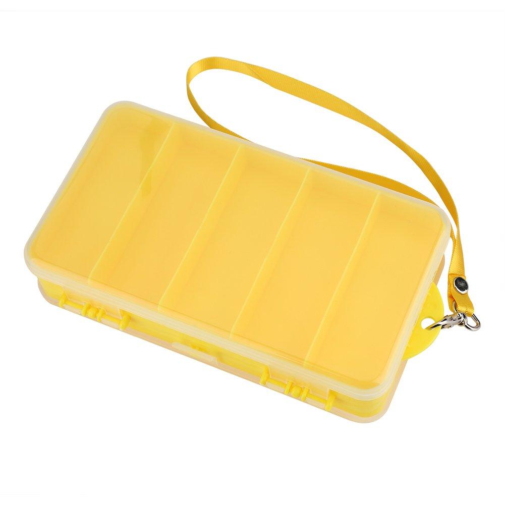 VGEBY Double-Sided Tackle Box, Plastic Transparent Fishing Lure Bait Hooks Storage Case Organizer Accessory