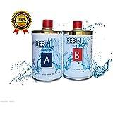 resina epoxi LIQUIDISSIMA SUPER transparente 800 GR, fibra BICOMPONENTE A B-EFFETTO agua para