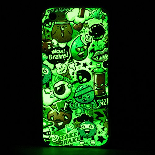 Hülle iPhone 5C, IJIA Ultra Dünnen Transparent Leuchtende Nacht Alle Arten Olds TPU Weich Silikon Handyhülle Schutzhülle Handyhüllen Schale Case Tasche für Apple iPhone 5C + 24K Gold Aufkleber
