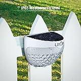 Litom Solar Fence Post Light, Semi-circle 6 LED