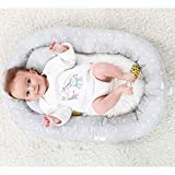 KAKIBLIN Baby Bassinet for Bed,Baby Lounger Bed