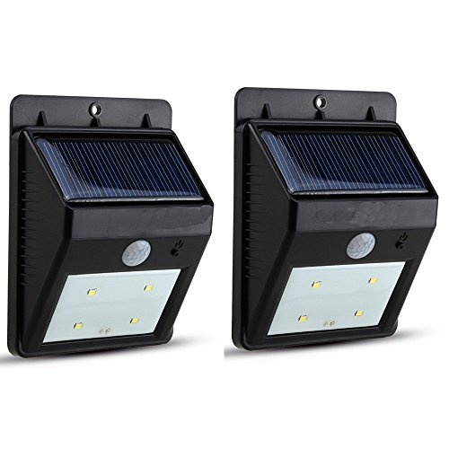 (Solar Light, AGPtek LED Outdoor Solar Powerd Light Lamp, Wireless Waterproof Security Motion Sensor Light for Patio, Deck, Yard, Garden,Driveway with 2 Modes Motion Activated Auto On/Off(2)