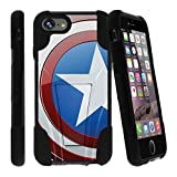 america phone case - MINITURTLE Case Compatible w/ Shockproof iPhone 7 Phone Case | iPhone 7s Stand Case [Strike Impact] DualLayer Hard Shell Case w/ Stand & Tempered Glass COMBO American Shield Flag