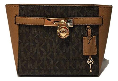 223f056079fcb4 Galleon - MICHAEL Michael Kors Hamilton Traveler TZ MD Messenger Crossbody  (Signature MK Brown/Acorn)