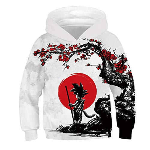 - CHENMA Unisex Kids Naruto 3D Print Pullover Hoodie Sweatshirt with Front Pocket