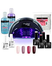 Mylee Mylee Pro Salonserie Convex Curing® Ledlamp, professionele gelnagellak, 4 x MYGEL-kleuren, boven- en onderlaag, led-lamp, prep & wipe, gelverwijderaar en meer