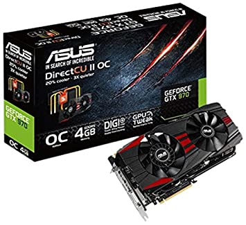 ASUS GTX970-DC2OC-4GD5-BLACK NVIDIA GeForce GTX 970 4GB ...