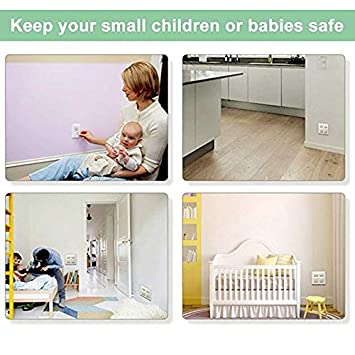 24Pack,Proofing Plug Covers Baby Proofing Plug Covers,White Outlet Covers Safety Socket Covers Protectors Child Proof Electrical Protectors for Child Baby Home and School 24 Pack