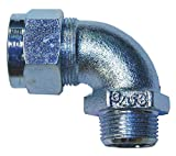 2-7/8''L Zinc-Plated Steel Liquid Tight Cord Connector, Orchid, 0.75'' to 0.88'' Cord Dia. Range