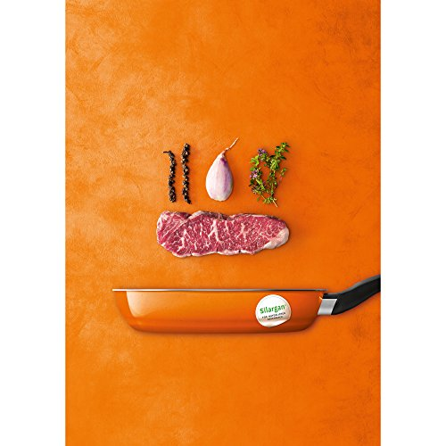 Silit Passion Orange Bratpfanne, 24 cm, Silargan Funktionskeramik, induktionsgeeignet, Auslaufmodell, orange