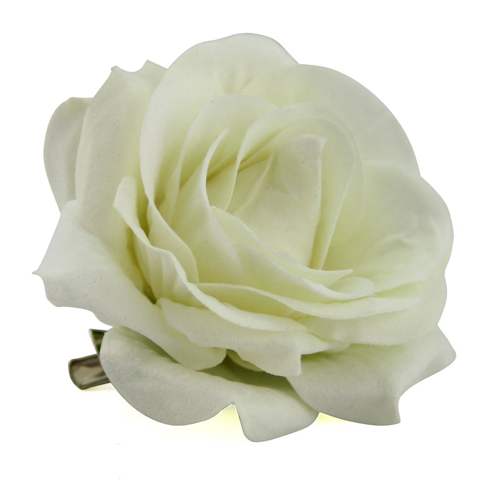 Amazon Qtgirl Fabric Rose Hair Clips Flower Brooch For Women