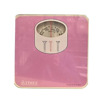 Dabuty Online, S.L. Bascula de baño mecanica Antideslizante con diseño Rosa