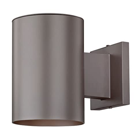 Bronze cylinder outdoor wall down light outdoor post light bronze cylinder outdoor wall down light mozeypictures Images