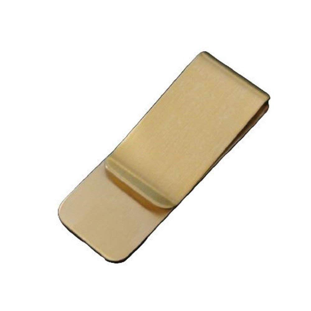 Tcplyn Vintage Mini Copper Money Clip Portable Cash Clamp Paper Clip Money Holder for Storage Money Use 1PCS