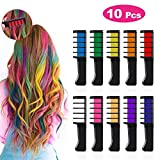 Kids Hair Chalk Comb - Tiaoyeer 10 Colors Temporary Hair Comb Salon, Non-Toxic