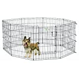 Midwest Homes for Pets Exercise Pen for Pets with Full Max Lock Door, 30-Inch, Black