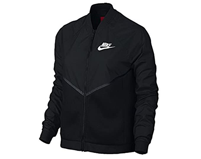 2246f300f229 Nike Women s Tech Hyper Mesh Bomber Jacket (725850-010)  Amazon.co.uk   Sports   Outdoors