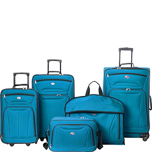 American Tourister Wakefield 5 Piece Luggage Set (Teal Blue) American Tourister Luggage Set