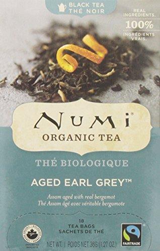 NUMi TEAS Aged Earl Grey Tea, 18 Count