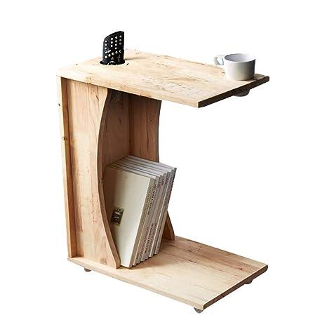 Amazon.com: Pequeña mesa de café de madera maciza para sofá ...