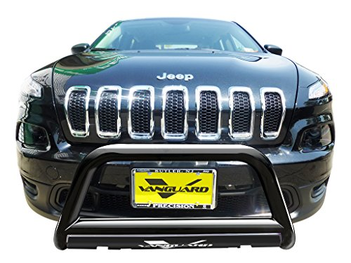 VANGUARD Off Road VGUBG-1182BK For Jeep Cherokee 2014-2019 Bumper Guard Black Bull Bar with Skid Plate
