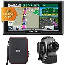 """Garmin nuvi 67LM 6"""" Essential Series 2015 GPS w Lifetime Maps Vent Mount & Case Bundle - Includes 6"""" Essential..."""
