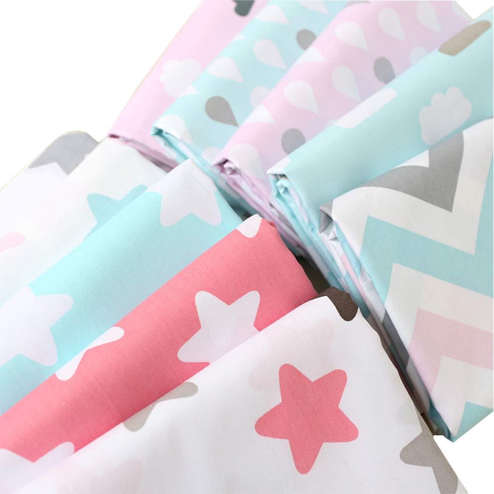 los 50cm y los zigzag imprimieron los paquetes superiores de la tela de algod/ón 10piece los 40cm tela que acolchaba para coser artes