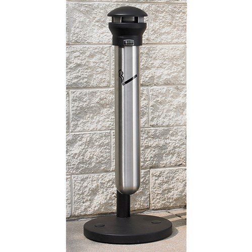 Rubbermaid Infinity Smoking Receptacle With Stainless Canister - 15-1/2'' Dia. X 39-5/8''H - 1.33-Gallon Capacity by Infinity