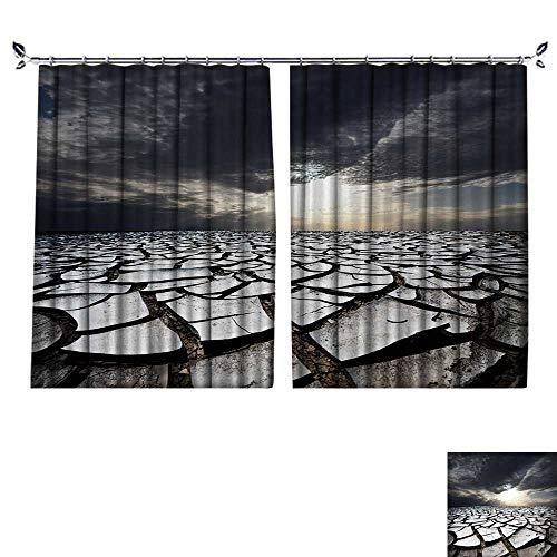 DESPKON Shading Polyester Material Sand Desert for Room Decoration W72 x L96