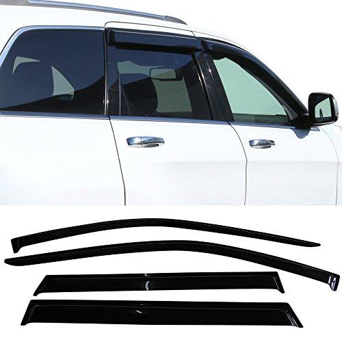 - Window Visor fits 2011-2013 Jeep Grand Cherokee WK2 | Slim Style Acrylic Smoke Tinted Sun Rain Shade Guard Wind Vent Air Deflector by IKON MOTORSPORTS | 2012
