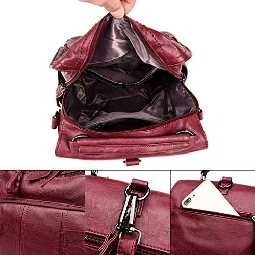 Brown Backpack Capacity Travel Baby Bag Red Mummy Large Wine Nappy Shoulder Dabixx Diaper Maternity UqvPwP
