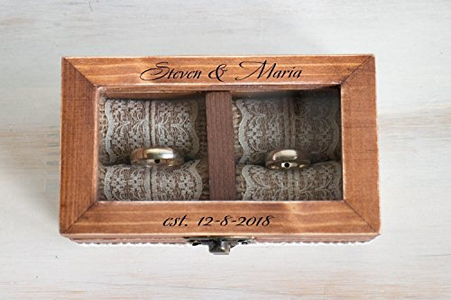 Custom Ring Box - Wedding ring box, Personalized wedding box, Ring bearer box, Ring Bearer Pillow, Engagement box, Custom Wedding Ring Box Wedding Ring Holder